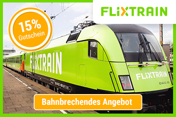 FlixTrain: 15 % off tickets