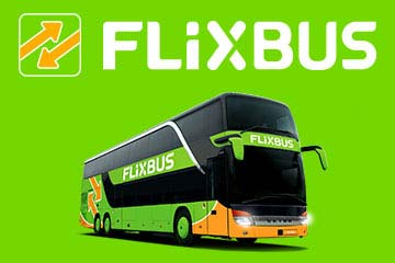 FlixBus: 3 € voucher and 10 % off tickets in the app